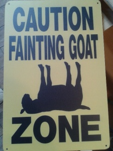 Fainting Goat Sign